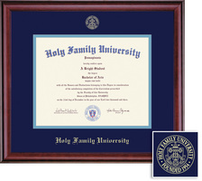 Framing Success Classic Diploma Frame, Double Mat in a Rich Cherry Burnished Ginish