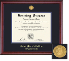 Framing Success Classic BABS and MAMS Double Matted Diploma Frame in a Burnished Cherry Finish