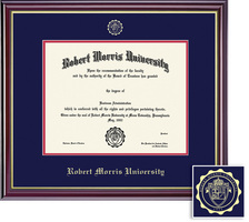 Framing Success Windsor BA Diploma Frame in Gloss Cherry Finish, Gold Trim