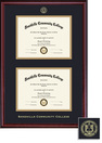 Framing Success Classic Double Diploma Frame, Double Matted in Burnished Cherry Finish