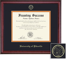 Framing Success Classic BAMA Double Matted Diploma Frame in a Burnished Cherry Finish