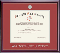 Framing Success Jefferson Diploma Frame in a High Gloss Cherry Finish. Bachelors, Masters
