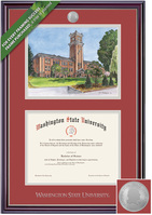 Framing Success Jefferson Diploma and Litho Frame. BAMAPharmArchitectureVet