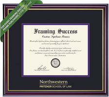 Framing Success Windsor Law Double Matted Diploma Frame in High Gloss Cherry Finish