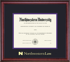 Framing Success Classic Law Double Matted Diploma Frame in a Burnished Cherry Finish