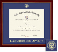 Framing Success Regal Single Matted Diploma Frame in Cherry Finish with Gold Accents