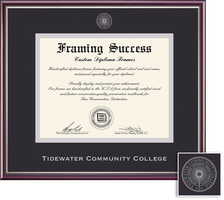 Framing Success Scholastic Double Matted Diploma Frame in a Gloss Cherry Finish