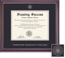 Framing Success Jefferson Double Matted Diploma Frame in a High Gloss Cherry Finish