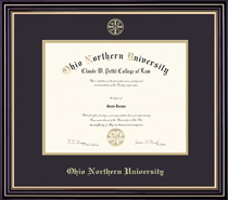 Framing Success Prestige Bachelors Diploma Frame Double Matted in Satin Black Finish, Gold Trim