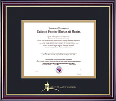 Framing Success Windsor MBA Diploma Frame, Double Matted in Gloss Cherry Finish, Gold Trim