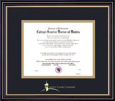 Framing Success Prestige MBA Diploma Frame, Double Matted in Satin Black Finish, Gold Trim
