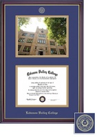 Framing Success Windsor Photo Diploma Frame Double Matted in High Gloss Cherry Finish, Gold Trim