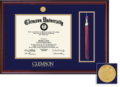 Classic Tassel Diploma Frame in a Burnished Cherry Finish