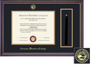 Framing Success Windsor Tassel Diploma Frame in Gloss Cherry Finish and Gold Trim