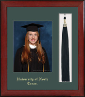 Framing Success Keepsake Photo Tassel Frame in Burnished Cherry Finish