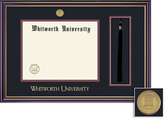Framing Success Windsor Medallion Diploma Tassel Frame, Double Matted in Gloss Cherry Finish