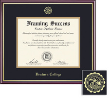Framing Success Academic Diploma Frame, Double Matted in gloss cherry finish, gold inner bevel