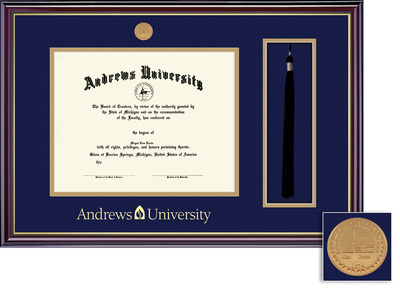 Framing Success Windsor Mdl Diploma & Tassel Frame. Double Matted in Gloss Cherry Finish, Gold Trim
