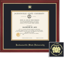 Framing Success Regal Diploma & Tassel Frame, Dbl Mat, Elegant Cherry Finish, Impressive Gold Accent