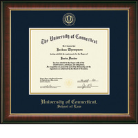 Church Hill Classics Embossed Murano Diploma Frame. Law.