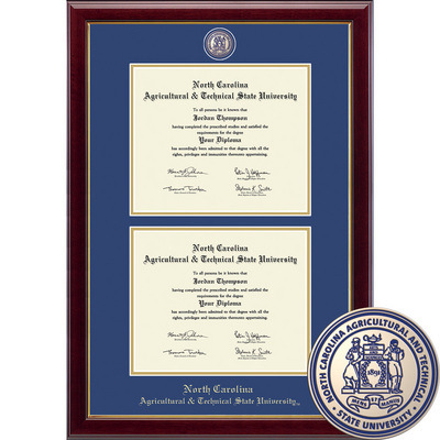 Church Hill Classics Double Diploma Frame. Bachelors Masters (Online Only)