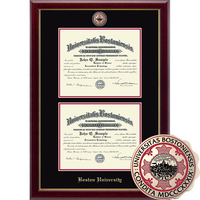 Church Hill Classics Double Document Diploma Frame. Bachelors, Masters, PhD