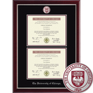 Church Hill Classics Double Document Diploma Frame BMPhD For diplomas 2011 to Current Online Only