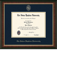 Church Hill Classics Embossed Murano Diploma Frame. Bachelors, Masters, PhD (Online Only)