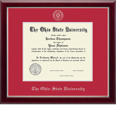 Church Hill Classics Embossed Red Diploma Frame. Bachelors, Masters, PhD