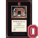 Church Hill Classics Campus Scene Stadium Diploma Frame.  Bachelors, Masters, PhD