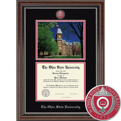 Church Hill Classics Campus Scene Univ. Hall Diploma Frame.  Bachelors, Masters, PhD