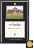 Framing Success BA Litho Prestige Mdl Dip, Dbl Mat in satin black finish with gold accents