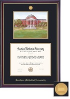 Framing Success BA Litho Windsor Mdl Dip, Dbl Mat in high gloss cherry finish with gold inner bevel