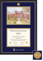 Framing Success Prestige Diploma Frame Double Matted in Satin Black Finish, Gold Trim, Masters