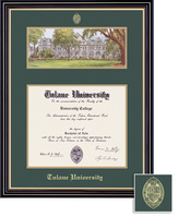 Framing Success Prestige MA, MBA, MD, SW, PH, or Eng Dip Litho Frame. Satin Black Finish, Gold Trim