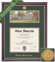 Framing Success Windsor Double Diploma Frame. Masters, MBA, MD Social Work