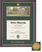 Framing Success Windsor MA, MBA, MD, SW, PH, or Eng Dip Litho Frame. Gloss Cherry Finish, Gold Trim