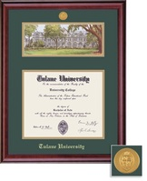 Framing Success Classic Mdl BA Diploma Litho Frame. Double Matted in Burnished Cherry Finish