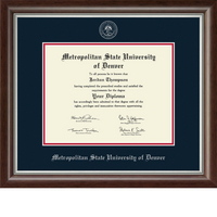 Church Hill Classics Embossed Devonshire  Diploma Frame. Bachelors, Masters. (Online Only)