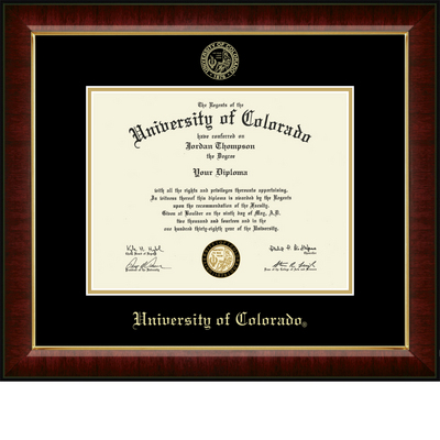 Church Hill Classics Embossed  Diploma Frame. Bachelors, Masters, PhD. (Online Only)