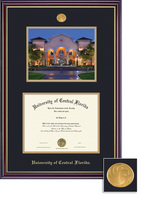 Framing Success Windsor Diploma & Photo Frame. Gloss Cherry Finish, Gold Trim. Masters, PhD