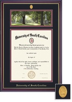 Framing Success Windsor PhotoMedallion With BlackMaroon Double Matted Diploma Frame