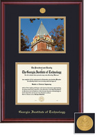Framing Success Classic Medallion Diploma & Photo Double Matted in a Burnished Cherry Finish