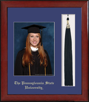 Framing Success Penn State Nittany Lions Keepsake PhotoTassel In Burnished Cherry Finish