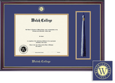 Framing Success Windsor Dip Frame with Tassel, Dbl Matted in Gloss Cherry Finish. Bachelors