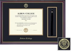 Framing Success Windsor Tassel, Diploma Frame, Dbl Mat, High Gloss Cherry Finish, Gold Inner Bevel