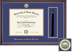 Framing Success Windsor DiplomaTassel Double Matted Diploma Frame in Gloss Cherry Finish