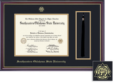 Framing Success Windsor Double Matted Diploma Tassel Frame in Gloss Cherry Finish