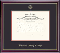 Windsor Diploma Frame Double Matted in Gloss Cherry Finish and Gold Trim