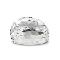 Etched Gem Cut Faceted Crystal Paperweight 2.5D (Online Only)
